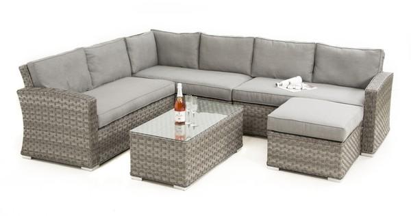 Exceptionnel Maze Rattan   Victoria Large Square Corner Sofa Set