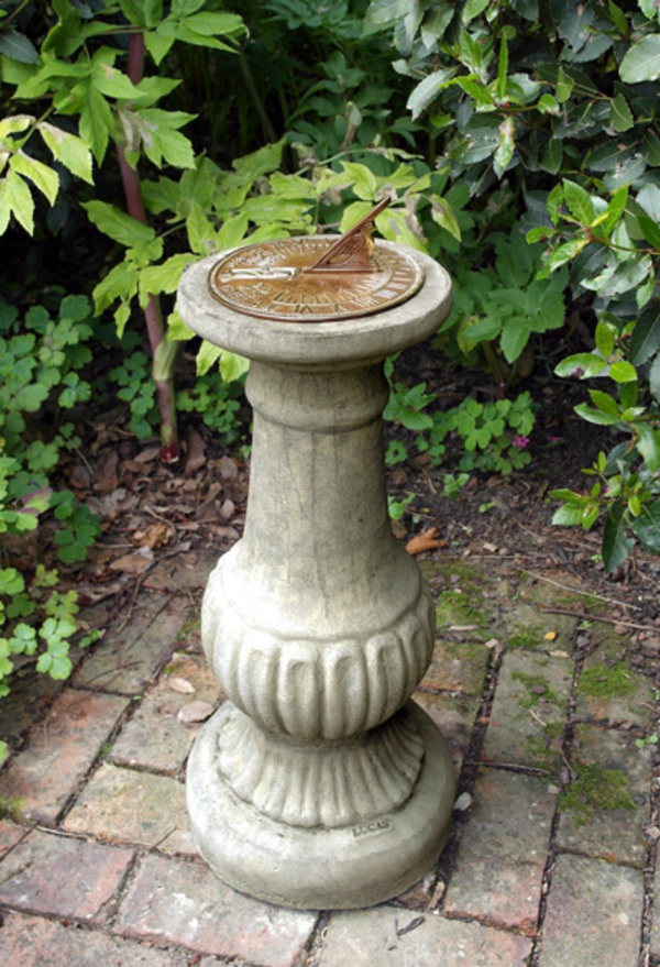 Victorian Aged Brass Garden Sundial   Cotswold Stone
