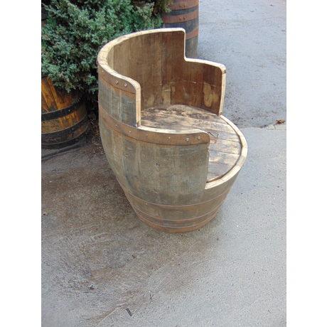 Whisky Barrel Chair Rustic - Large