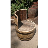 Whisky Barrel Chair Rustic - Small