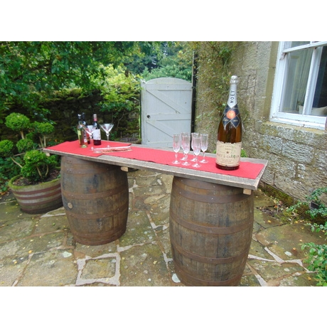Barrel Bar Hire - 1 Bar Top + 2 Barrels