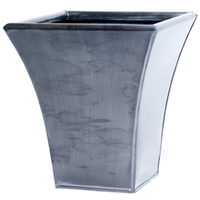 Luna Metal Flared Planter - Grey