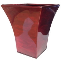 Luna Metal Flared Planter - Red